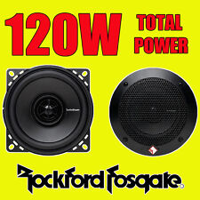 ROCKFORD FOSGATE 2-WAY 4 INCH 10cm CAR DOOR/SHELF COAXIAL SPEAKERS 120W TOTAL