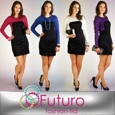 Women's Fashionable 2-Colors Dress  Tunic Style Long Sleeve Size 8-16 PA09