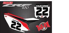 Honda CRF250r, 2014 thru 2018 CUSTOM MX Graphics Backgrounds - MADE IN THE USA