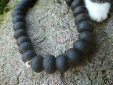5 Altglasperlen Bodom 25 mm schwarz Recycled Glass Beads Ghana Krobo