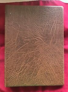 JOHN'S DEALS - US - LIGHTHOUSE COVER ALBUM - BROWN - 20 6 POCKET PAGES - USED