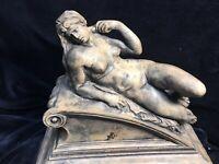 "Nude Female Art Statue Sculpture 9x5x8"" Heavy Italy"