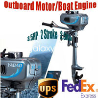 2-Stroke 3.5HP Heavy Duty Outboard Motor Boat Engine w/ Water Cooling System NEW