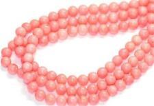 "New 4mm Japan Sea Pink Coral Gemstone Round Loose Beads 15"""