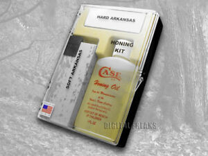 Case xx Arkansas Stone & Honing Oil Sportsman Sharpening Kit for Knives 924