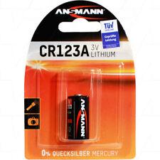 12x Ansmann 3V 1500mAh Lithium Battery CR123A CR123AS DL123A EL123A K123L