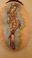 Fancy abstract lady wood burning