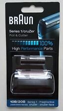 Braun 10B / 20 ter Cruzer Uomo Rasoio FOIL + Cutter Set HEAD REPLACEMENT Z30 Z60