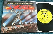 Budgie - Crime Against the World/Hellbender UK 45 w/sleeve Active/1980