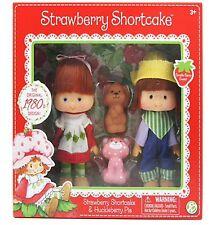 Strawberry Shortcake and Huckleberry Pie - Retro Style Dolls 1980's Design