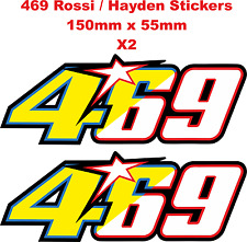 Valentino Rossi / Nicky Hayden 469 46 69 Stickers / Decals - 150mm x 55mm X2