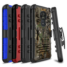 For Motorola Moto T-Mobile Revvlry/G7 Play/Optimo Belt Clip Holster Case Cover