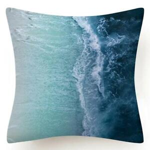 """PILLOW COVER Blue White Home Decor Double-Sided Decorative Cushion Case 18x18"""""""