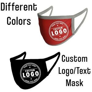 Personalized Face Mask Different Colors Reusable Custom any Name Text or Logo