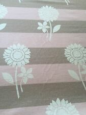 MASSIVE REMNANT SoftFurnishing Pink & Cream Flowers Approx 140x10.57cm