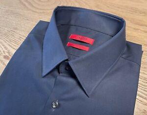 HUGO Hugo Boss Hemd Herrenhemd Regular Fit Gr. 42 Baumwolle neuwertig