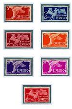 """ITALIA REPUB. -ESPRESSI-1945-1951-Serie """"Democratica""""-Filigr.Ruota 7 VALORI"""