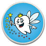 1 oz Silver Colorized Round - APMEX (Happy Tooth Fairy) - SKU #149453