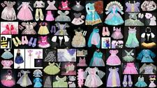 Girls Disney Princess Dress Up Costume Lot 30 Dresses Dolls Accessories + 4 - 7