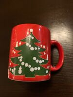Lot of 4 Waechtersbach Christmas Tree Coffee Mugs Tea Cups Made In W Germany EUC