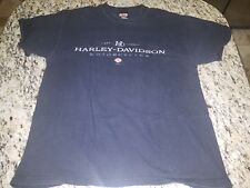Harley Davidson T-Shirt Hanes Beefy Vtg L Distressed Harker Heights Bell Co TX