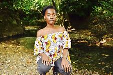 African Print Ankara Off Shoulder Top