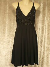 Little Black Dress with Rhinestone Bodice Formal Teenage Leavers Party Frock