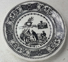 "Gien France #5 7 3/4"" Plate After Glass Wine Soup Doctor Saying Ironstone"