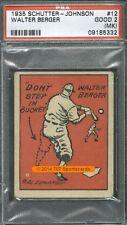 1935 Schutter Johnson 12 Walter Berger PSA 2mk (5332)