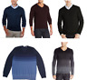 NEW CALVIN KLEIN MEN'S V-NECK EXTRA FINE MERINO WOOL SWEATER - VARIETY