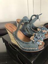 Miss Sixty MS-Tamara Platform Women Shoes Blue 6.5