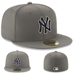 New Era New York Yankees Youth Fitted Hat MLB Basic Kids Storm Grey Black Cap