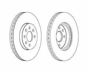 2 St. FERODO Bremsscheibe PREMIER Coat+ disc DDF1236C