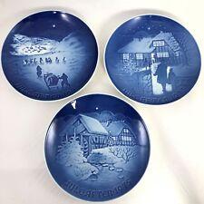 3 Bing & Grondahl Christmas Plates ~ 1972 1973 1975