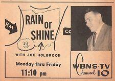 1956 TV AD~JOE HOLBROOK WBNS WEATHER METEOROLOGIST COLUMBUS OHIO 42 YEARS~WOW