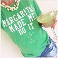 Margaritas Made Me Do It T-Shirt Margarita Jimmy Buffett Cocktail Tee