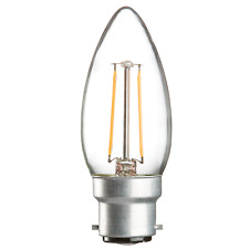 230V 2W LED 35MM BC CLEAR CANDLE 3000K WARM WHITE 210 LUMENS NON-DIMMABLE