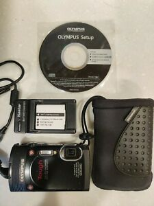 Very Nice Olympus Stylus Tough TG-850 16MP Waterproof Digital Camera Black