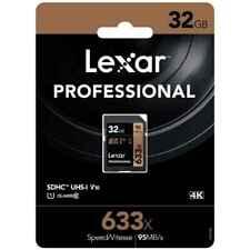 Lexar 32GB SDHC 633X Profesional UHS-I U1 Card LSD32GCB1EU633
