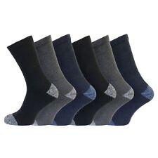 Mens Ruff&Tuff Premium Quality Comfort Work Socks UK 6-11,BIG FOOT(11-14) (6 Pk)
