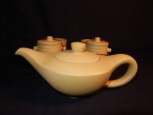 TAZO TEA POT SET,2 Cups 2 Tea ground Leaf safe keeps Jar & Tea pot w/Lid.w/box