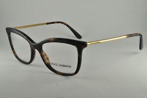 Dolce & Gabbana Eyeglasses DG 3286 502 Havana, Size 52-17-140