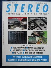 STEREO 6/93. SONY PCM 2300,ARAGON D2 A,AUDIO RESEARCH DAC 2,KINERGETICS 55 ULTRA