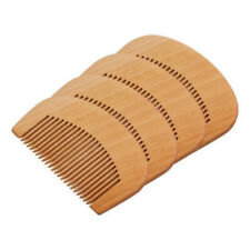 1Pc Wooden Hair Engraved Natural Peach Wood Comb Anti-Static Beard Comb Tool