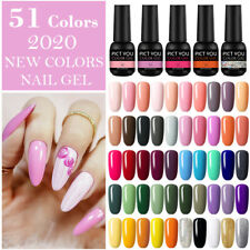 Pict que Gel UV Soak Off Esmalte De Uñas de Gel de Color Purpurina Barniz Nail Art Decor