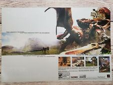 Monster Hunter Playstation 2 PS2 2004 Double Page Promo Ad Art Print Poster