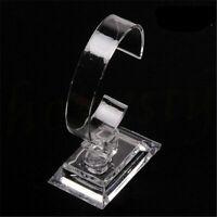 Transparent Plastic Wrist Watch Display Rack Holder Sale Show Case Stand Tool