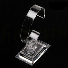 Transparent Plastic Wrist Watch Display Rack Holder Sale Show Case Stand Tool