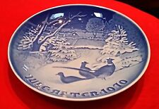 Bing & Grondahl Jule After 1970 B&G Plate - Pheasants In The Snow At Christmas
