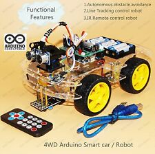 4WD Arduino Smart Car Robot Starter Kit - Programmable Robot (Style Two)